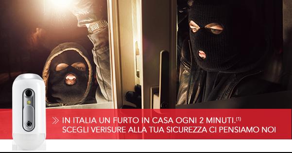 In Italia un furto ogni 2 minuti